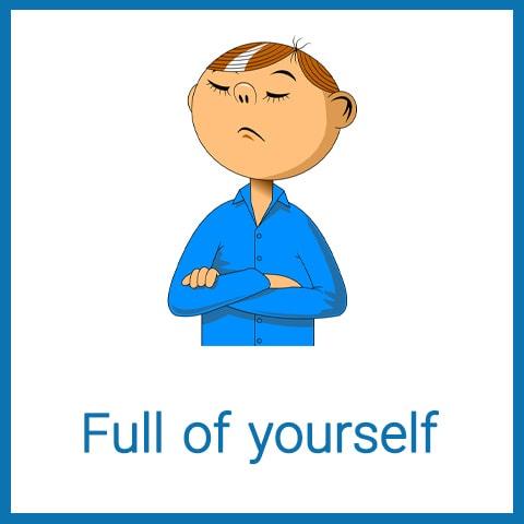 معنی Full of yourself
