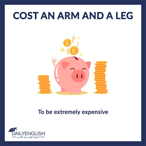 معنی cost an arm and a leg