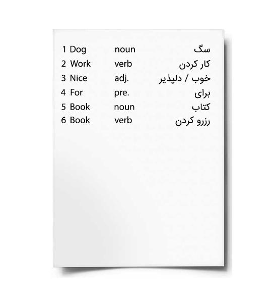 روش استفاده از لیست کلمات مرحله 1