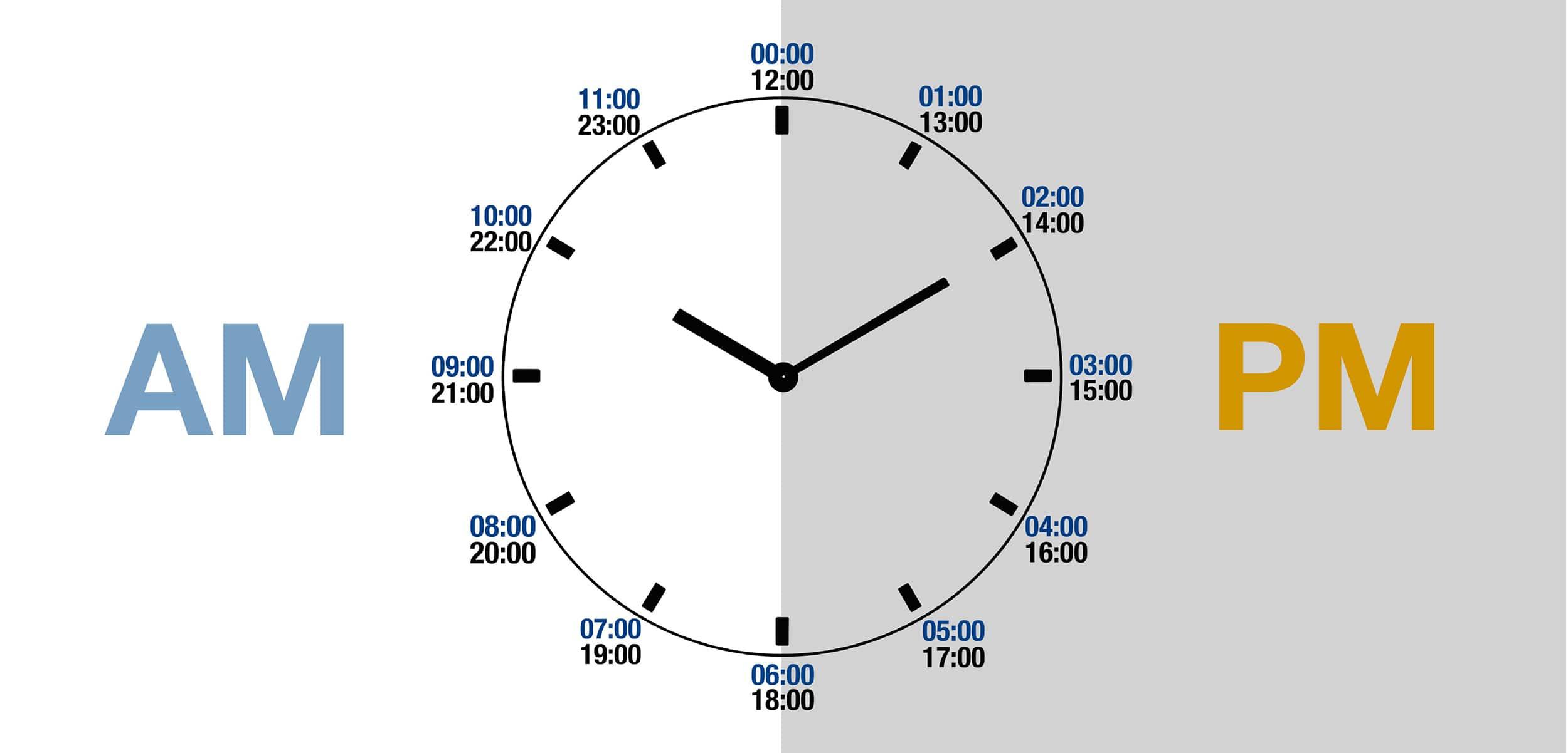 تبدیل 24 ساعته به 12 ساعته